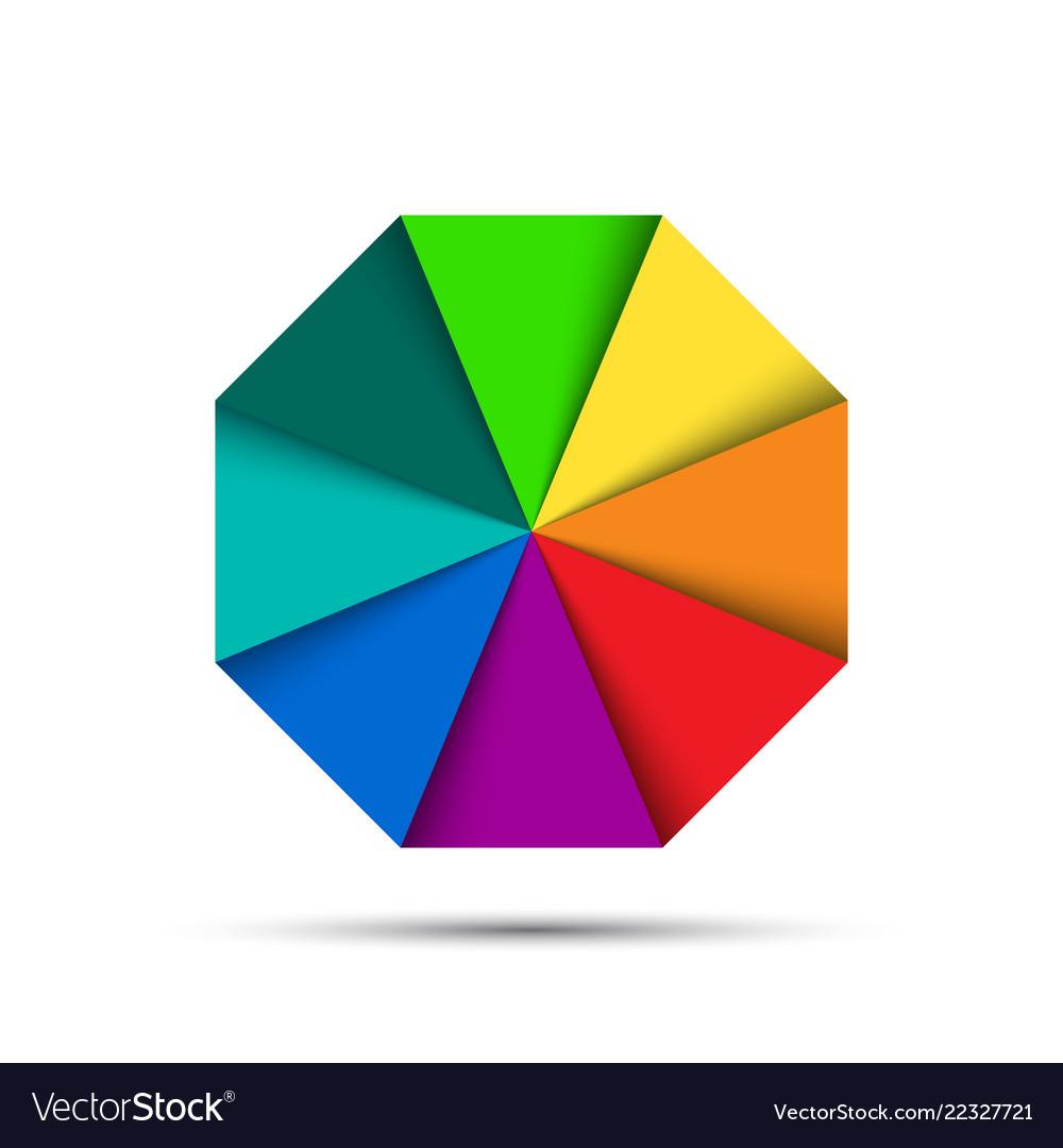 Color octagonal palette