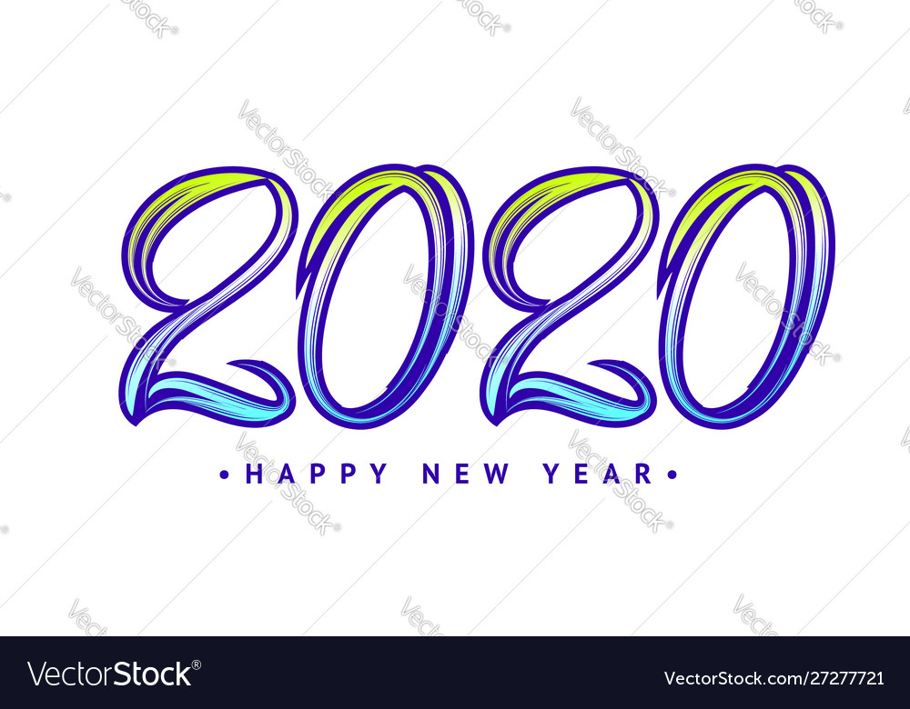 Hand drawn lettering 2020 for you design