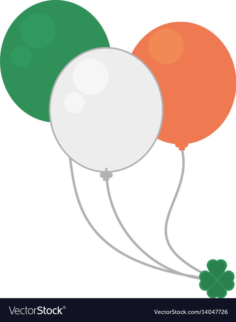 Balloons flag irish st patricks day