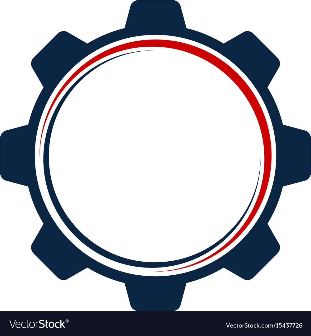 gear template logo royalty free vector image vectorstock