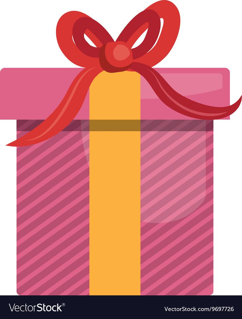 Gift box isolated flat icon design