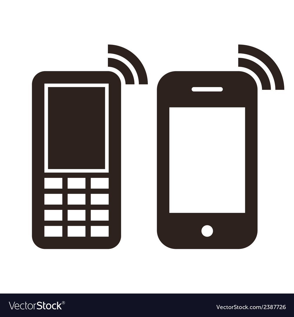 mobile phone icons royalty free vector image vectorstock rh vectorstock com vector phone clip art vector phone wallpapers