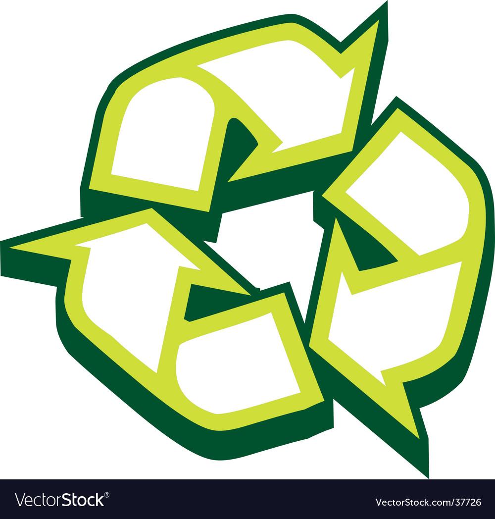 Recycle Symbol Royalty Free Vector Image Vectorstock