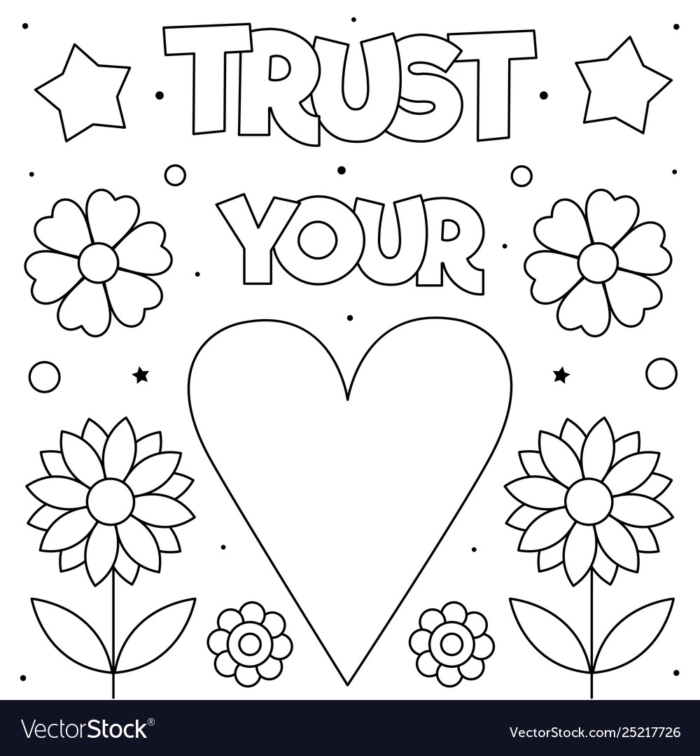 Trust your heart coloring page