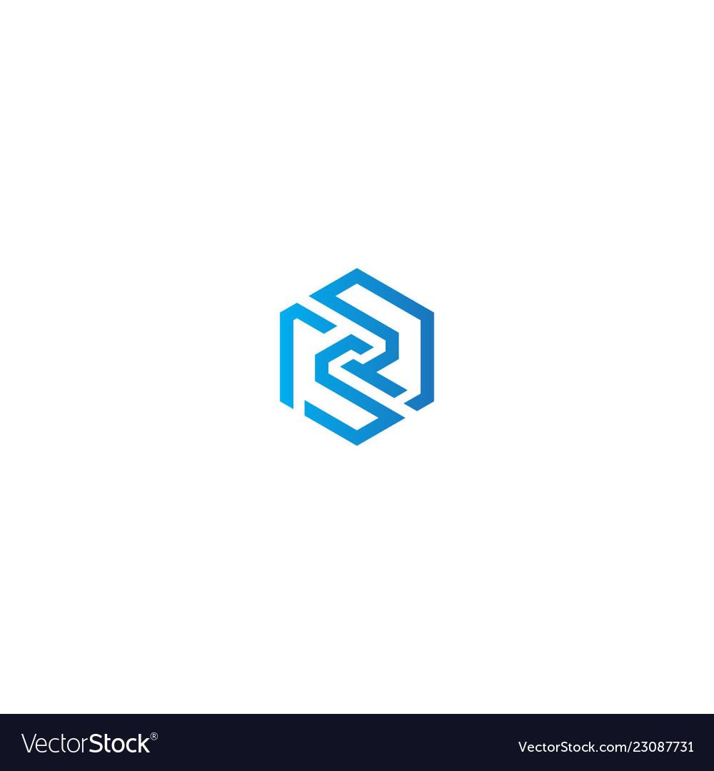 Abstract polygon line company logo