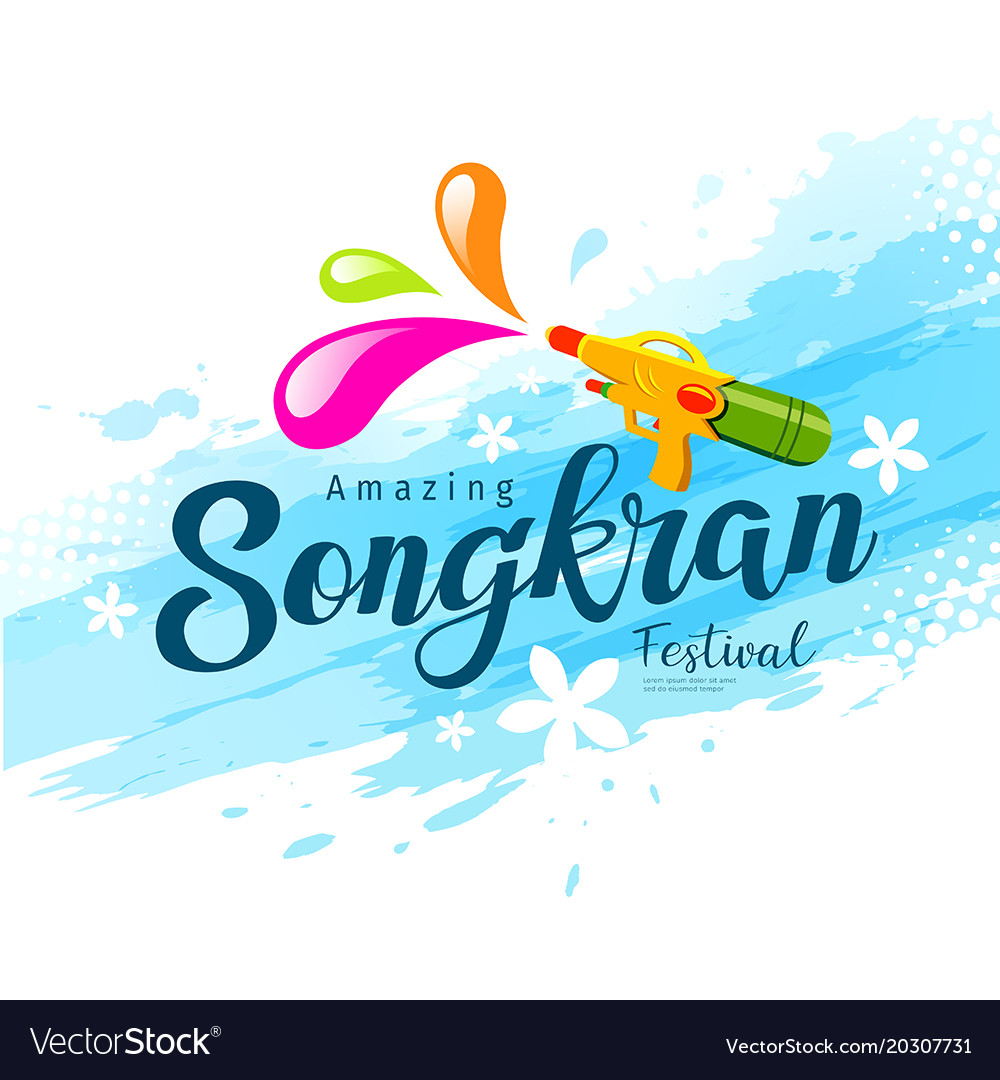 Amazing songkran festival water gun