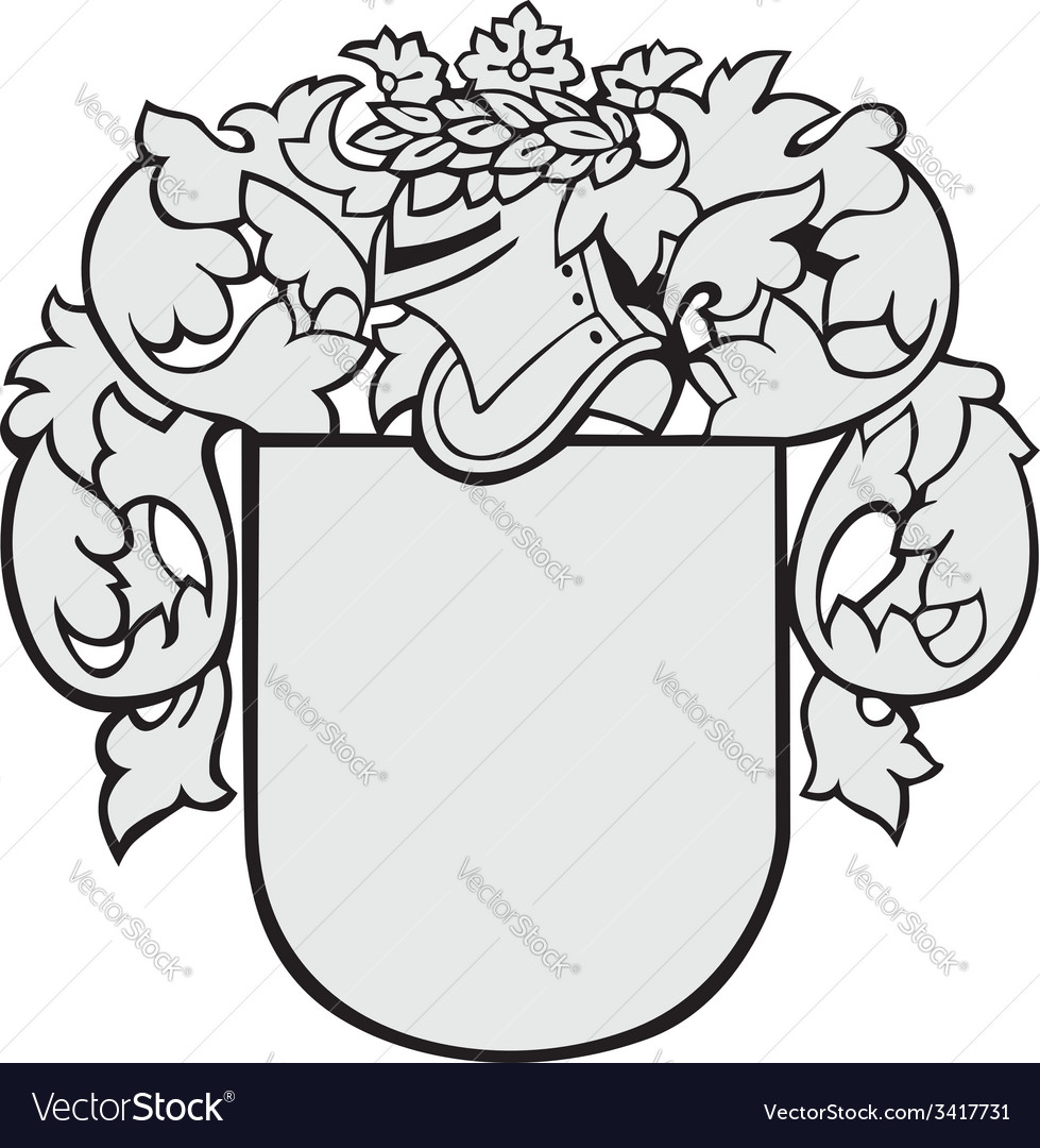Aristocratic emblem No5 vector image