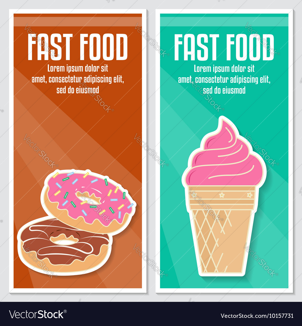 Banners of fast food design