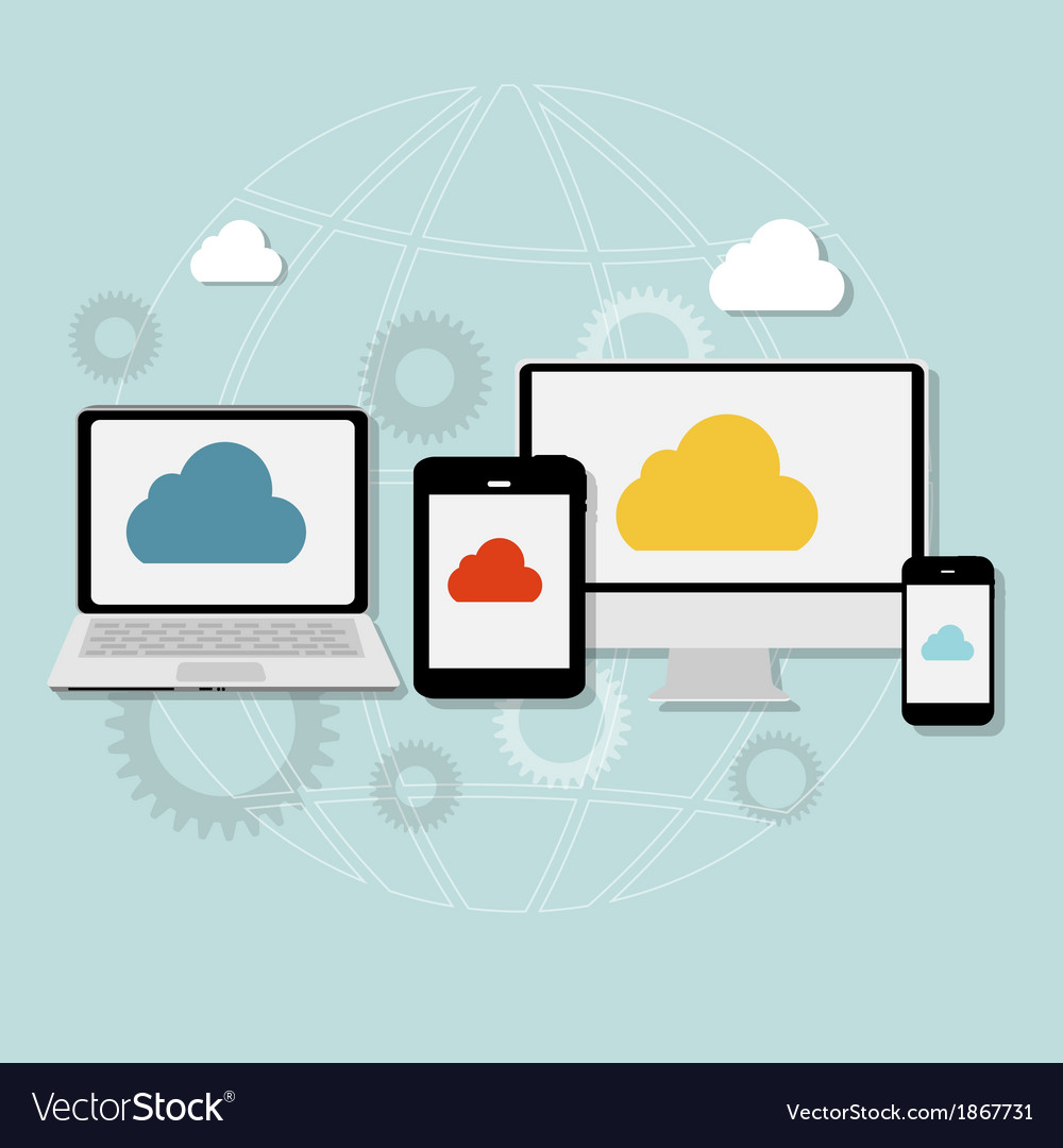 Cloud Computing Concept on Different Electronic