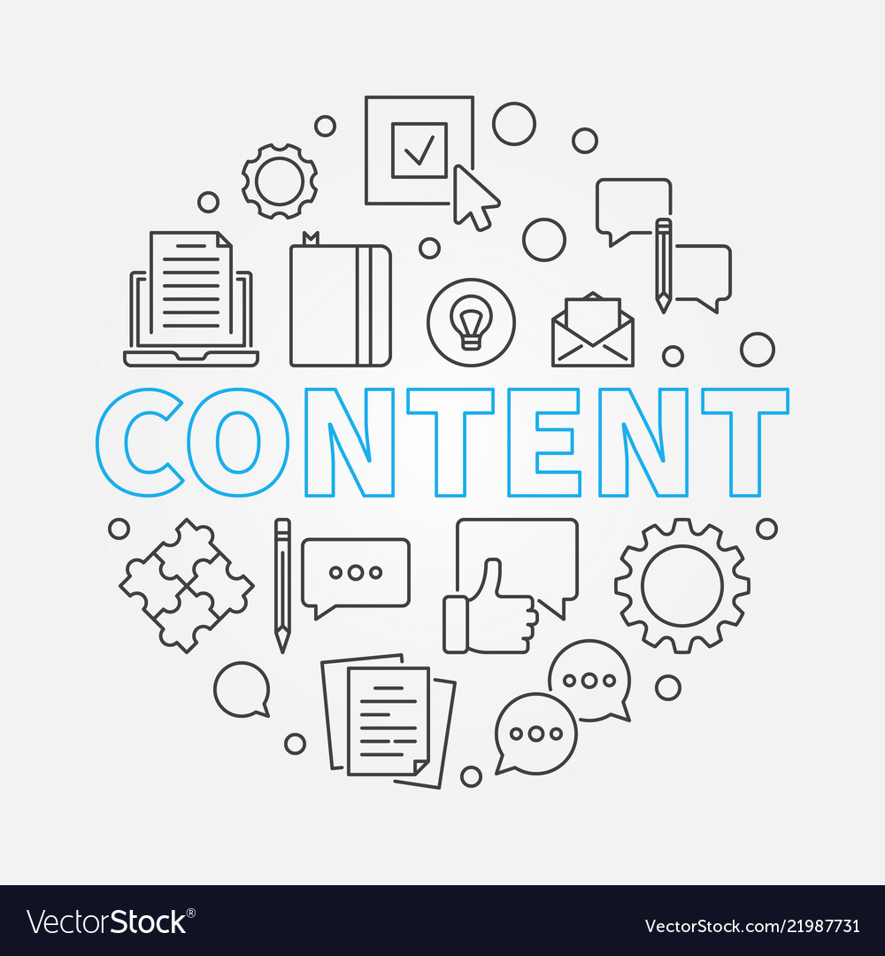 Content round outline creative