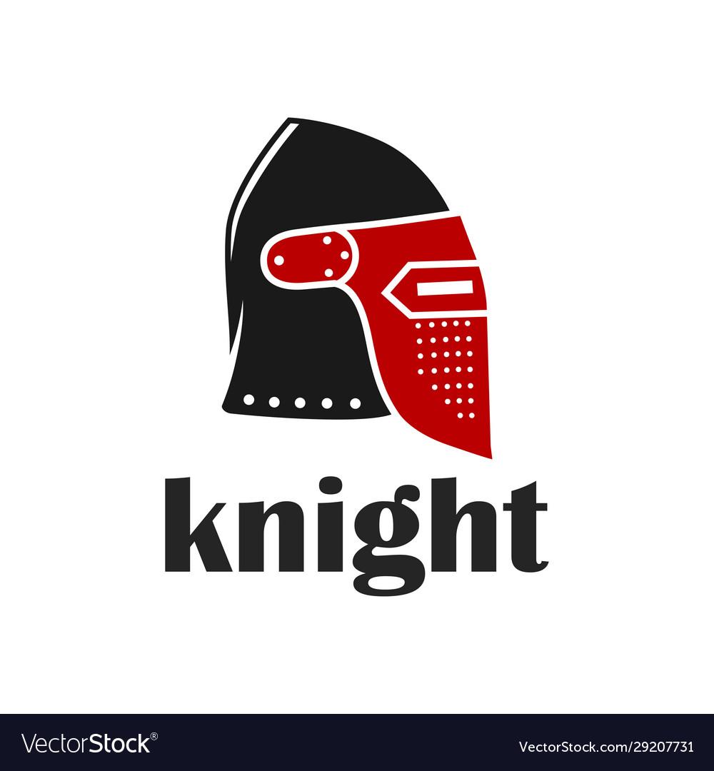 Knight warrior helmet logo
