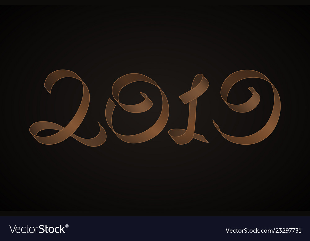 New years 2019 calligraphic inscription
