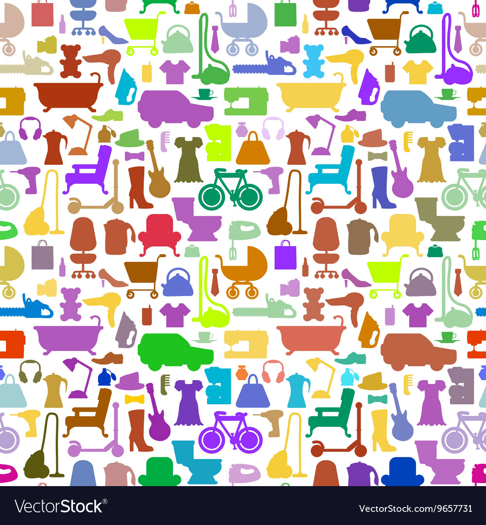 Shopping icons pattern with theme for sale
