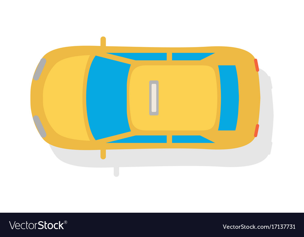 Car Carrier Top View Vector Images 35