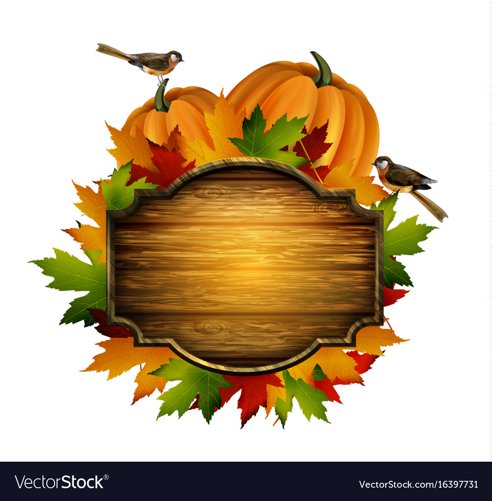 Thanksgiving autumn composition vector image