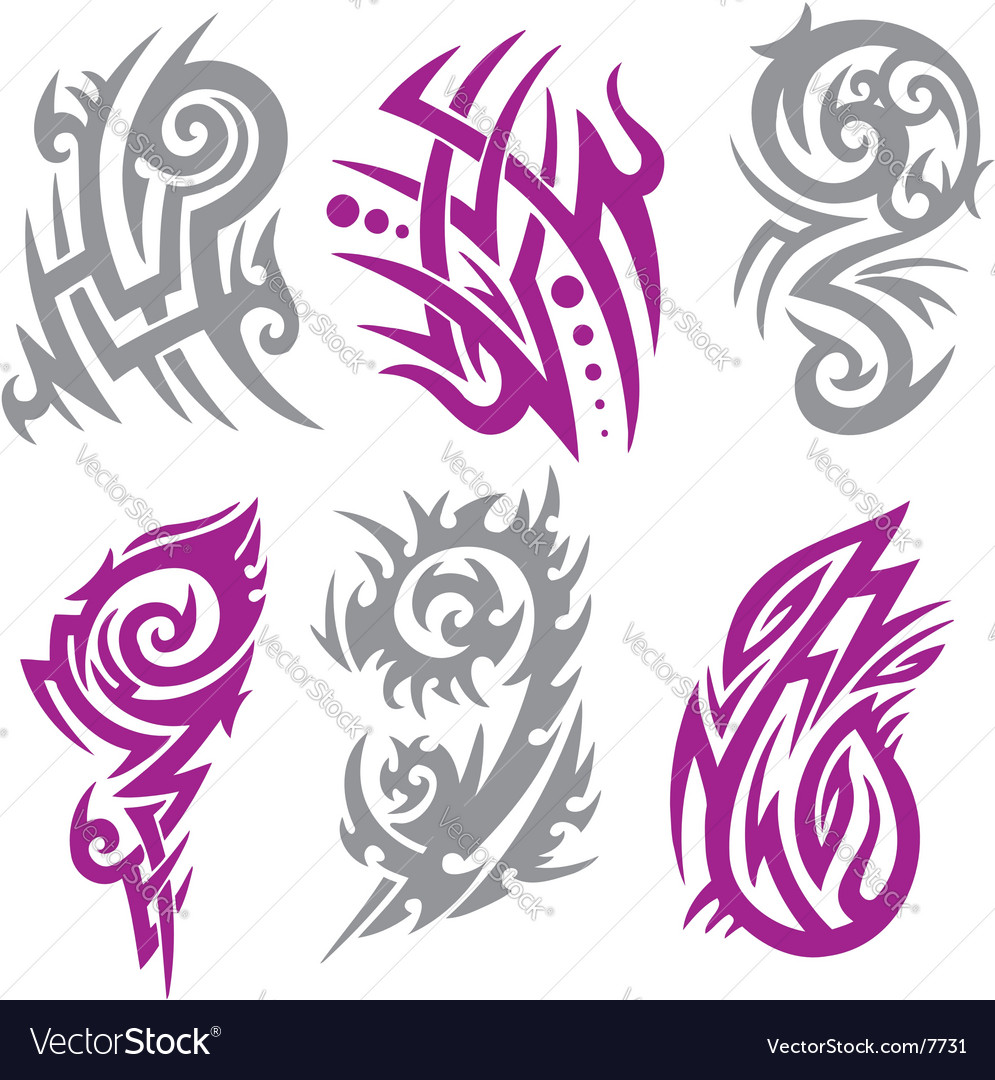 Tribal Tattoo Set Vector Illustration. Collection 003. Keywords: