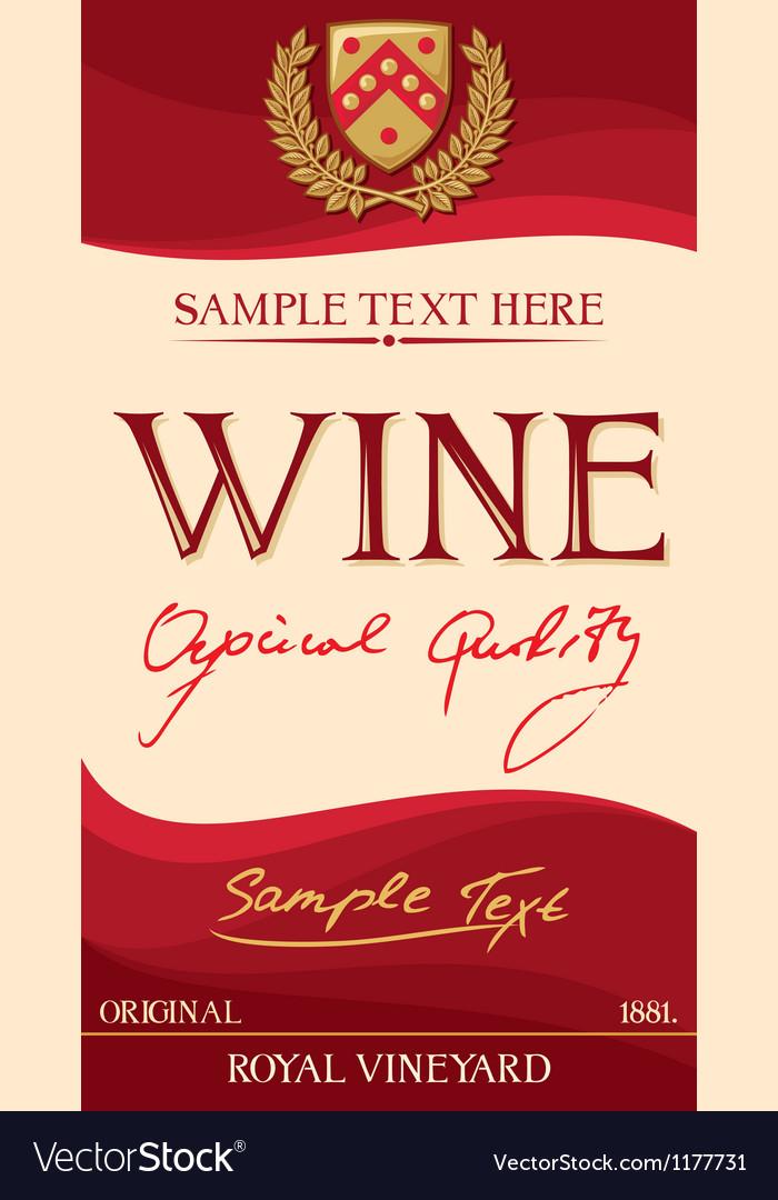 Wine label Royalty Free Vector Image - VectorStock