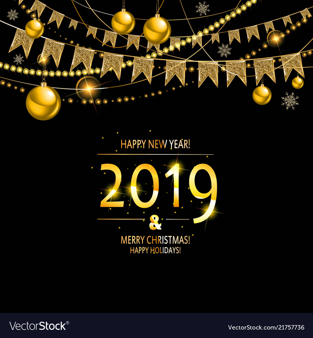 2019 golden new year