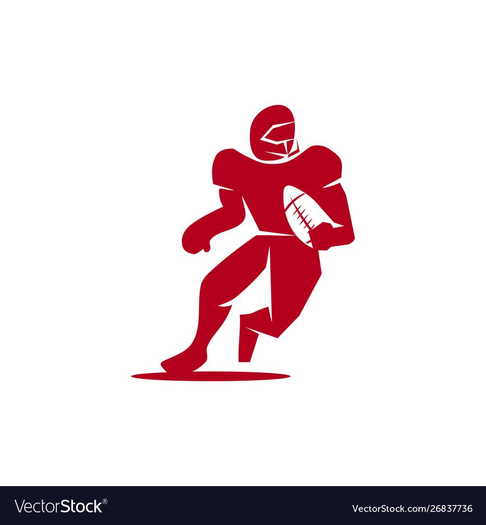 American football sport logo template design