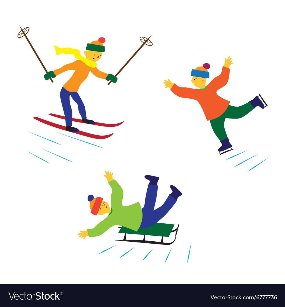 Картинка санки лыжи