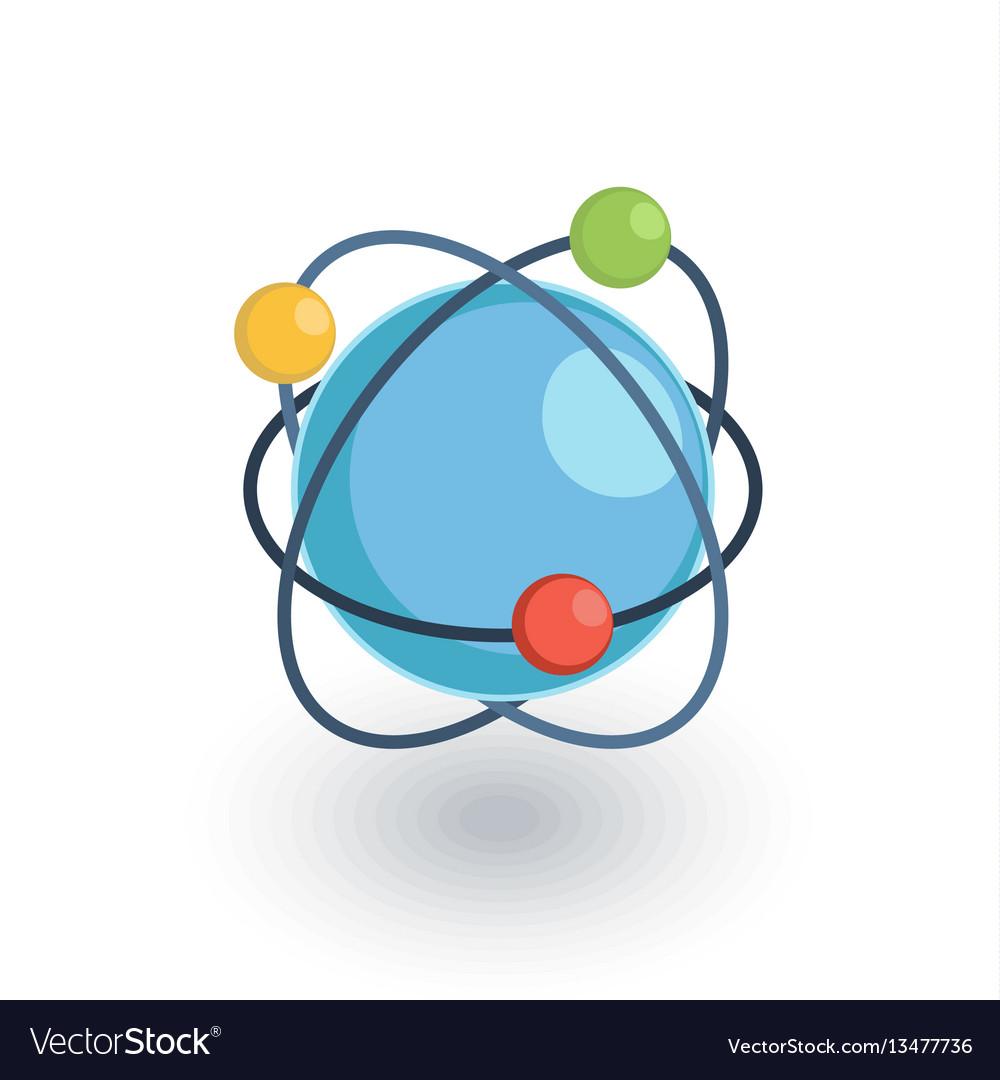 Global communication network isometric flat icon