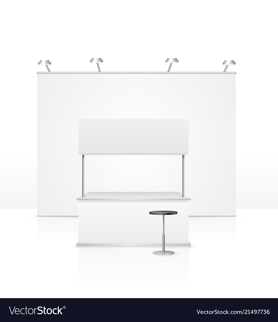 Realistic detailed 3d blank empty stand vector