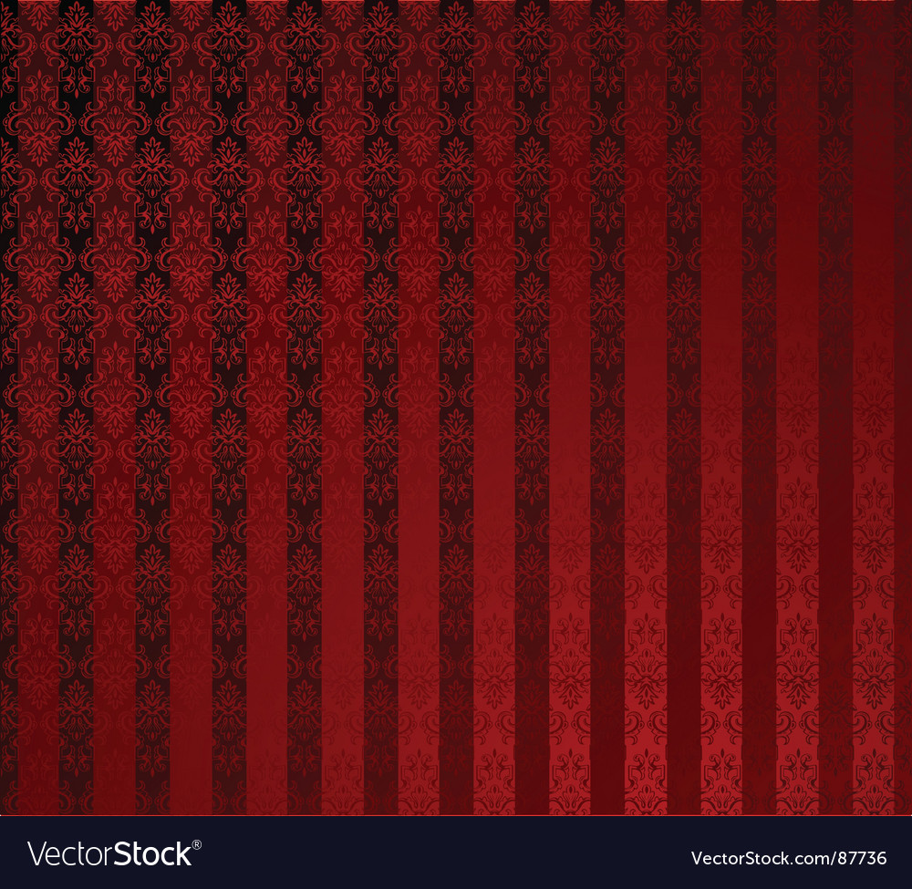 Red stripe wallpaper vector image