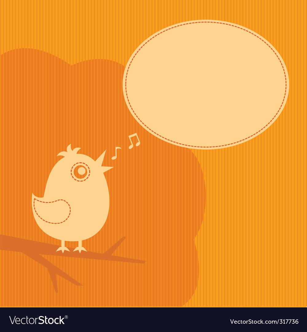 Twitter bird vector image