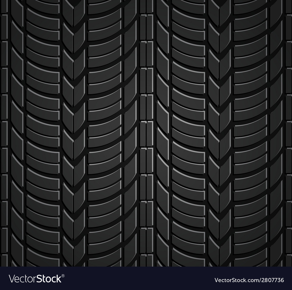 Wheel tire seamless pattern Royalty Free Vector Image