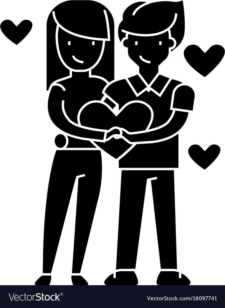 Couple in love loving couple - happy valentine