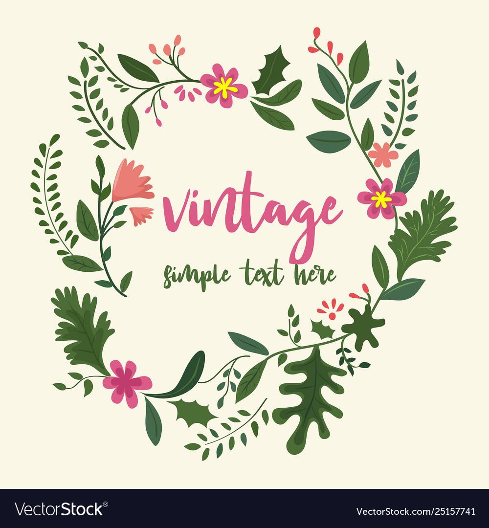 Flower frame in vintage style