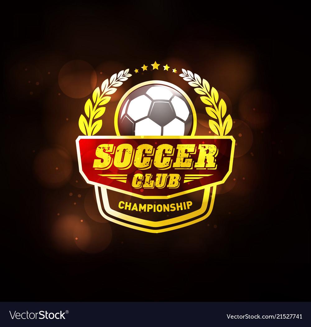 Football soccer club logo design template