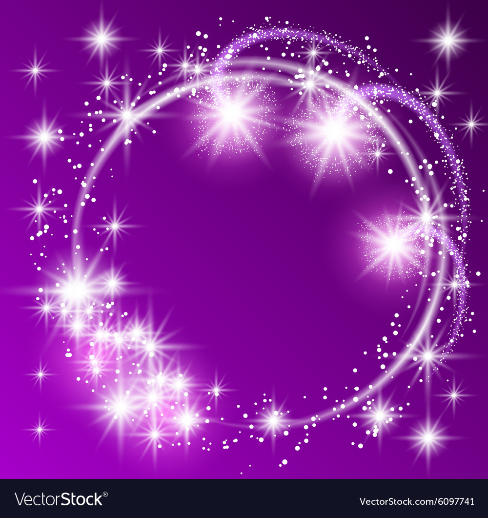 Glowing purple background vector image