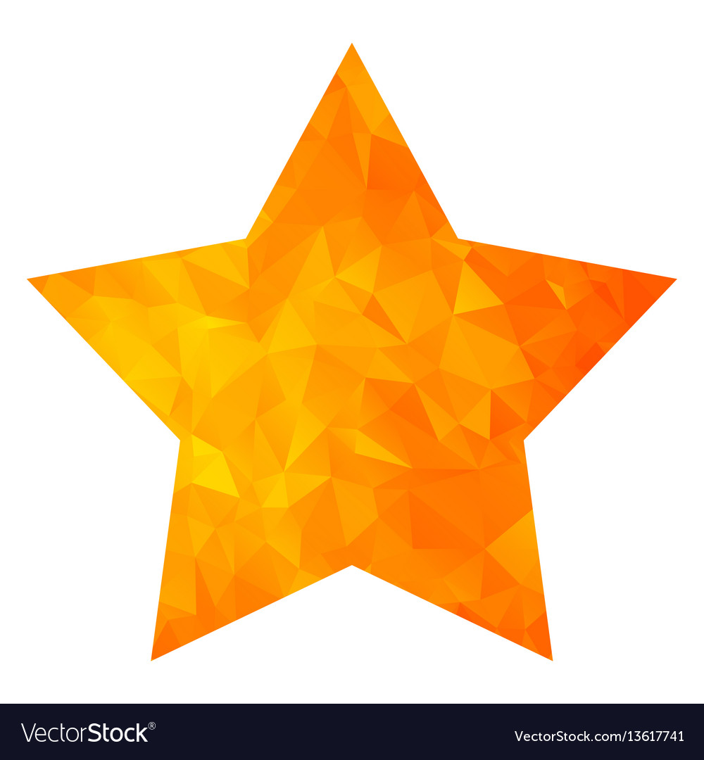 Low poly golden star