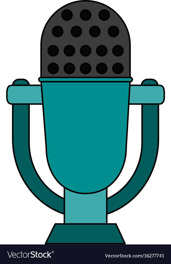 Retro old microphone icon