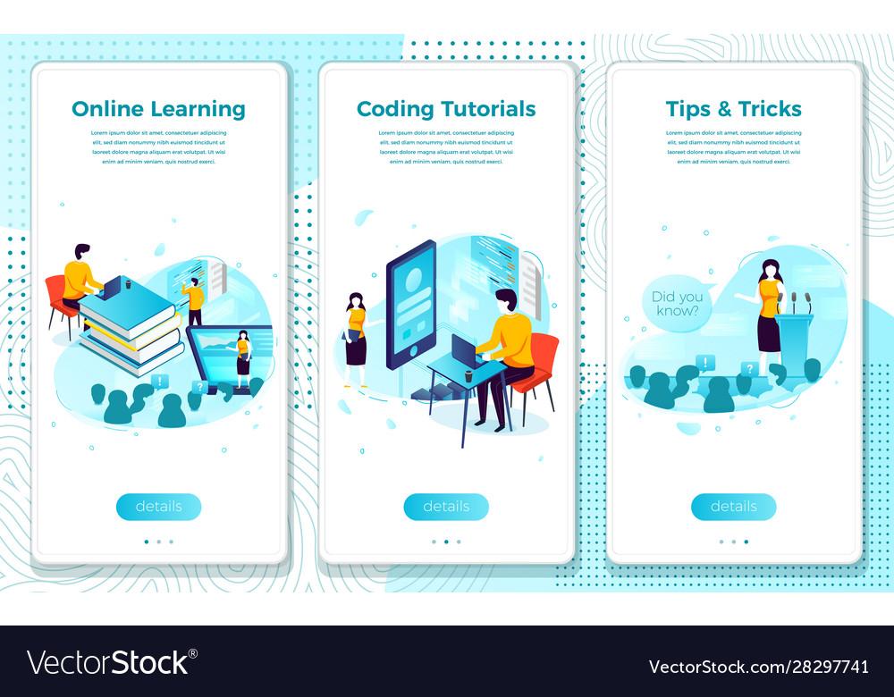 Set online tutorial school learning process