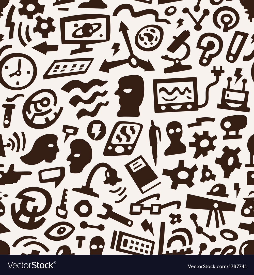 Thinking Science - seamless background vector image