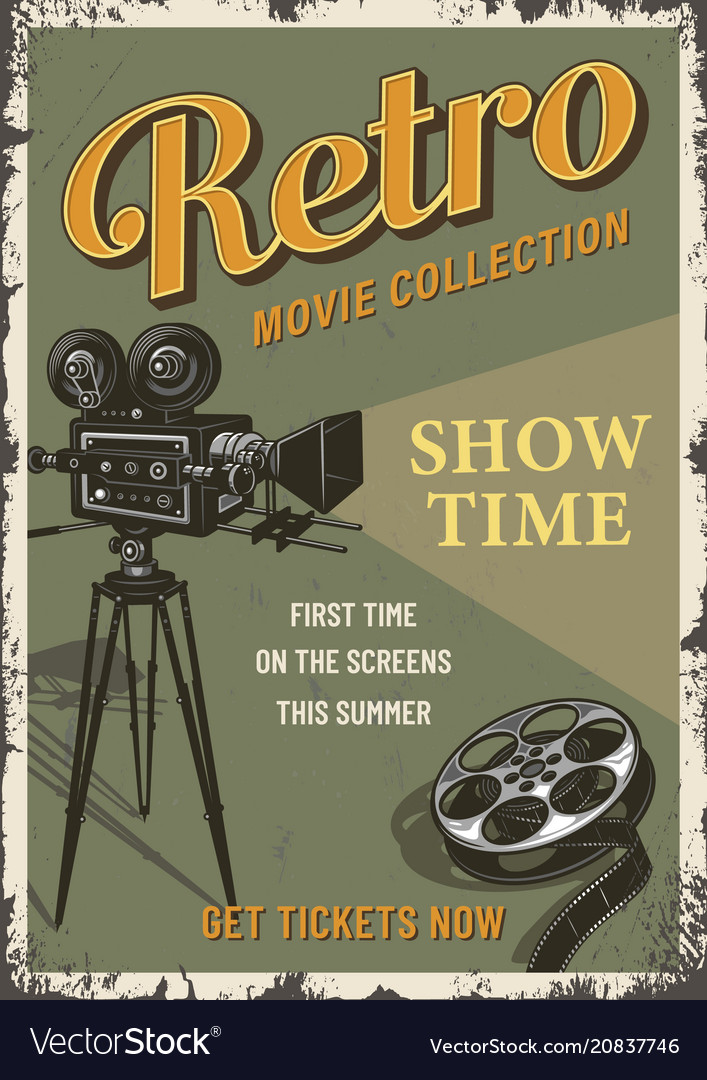 Cinema Film Festival Poster Template Vector Image