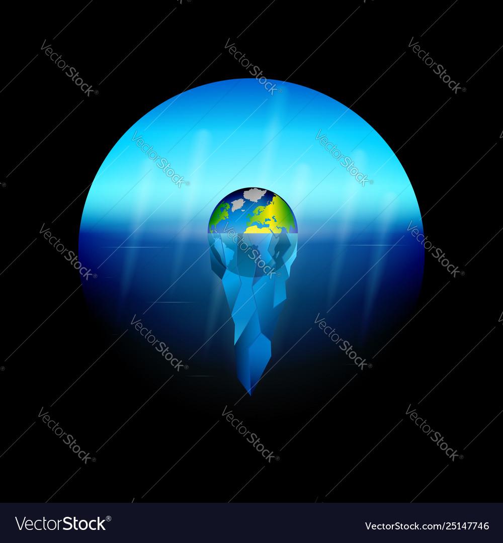 Conceptual on theme global warming on