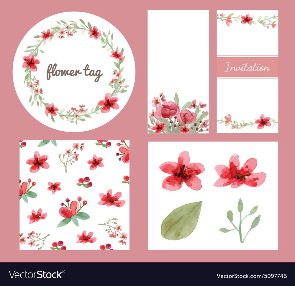 Flower decoration design set