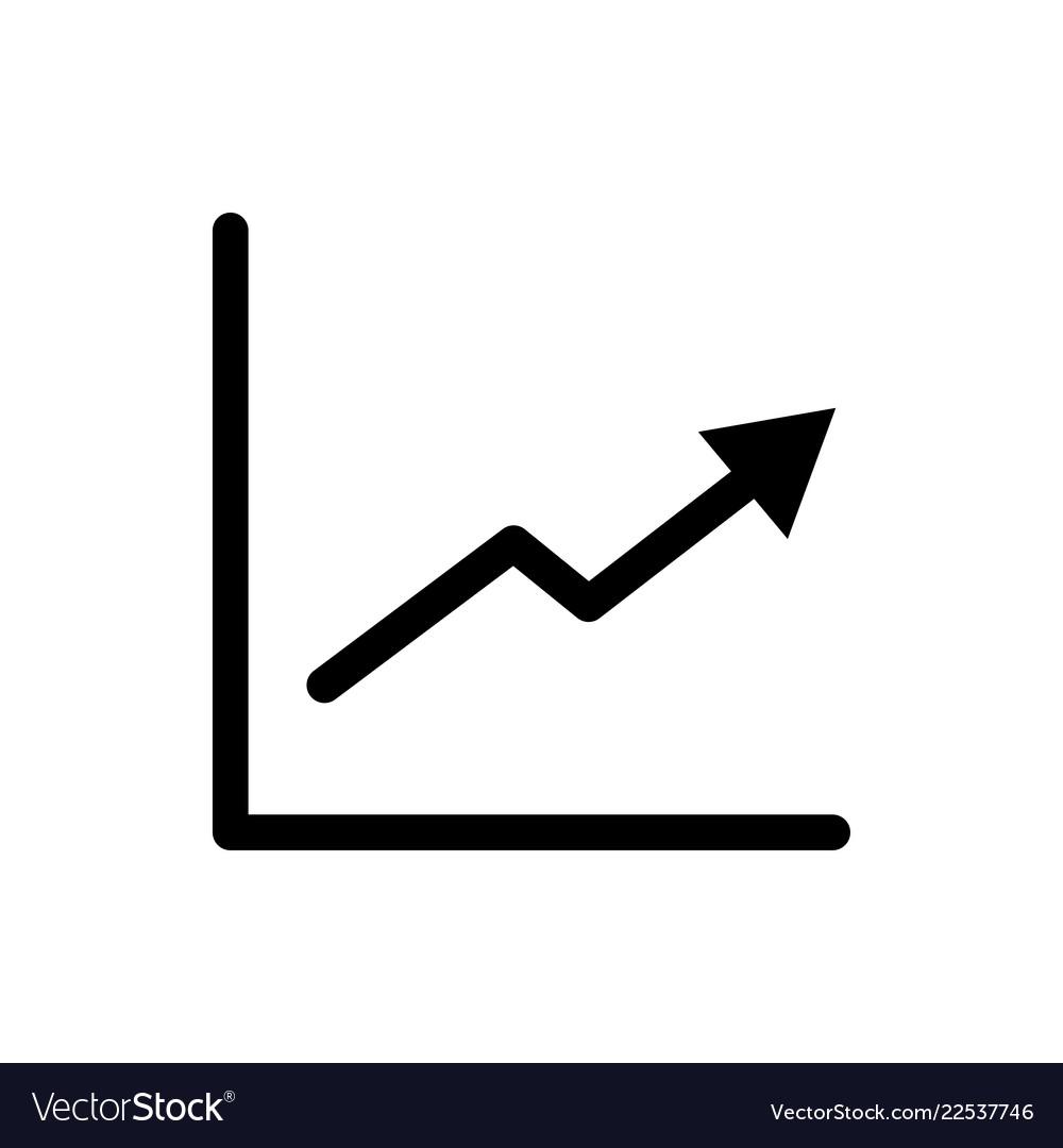 Graph icon growth symbol