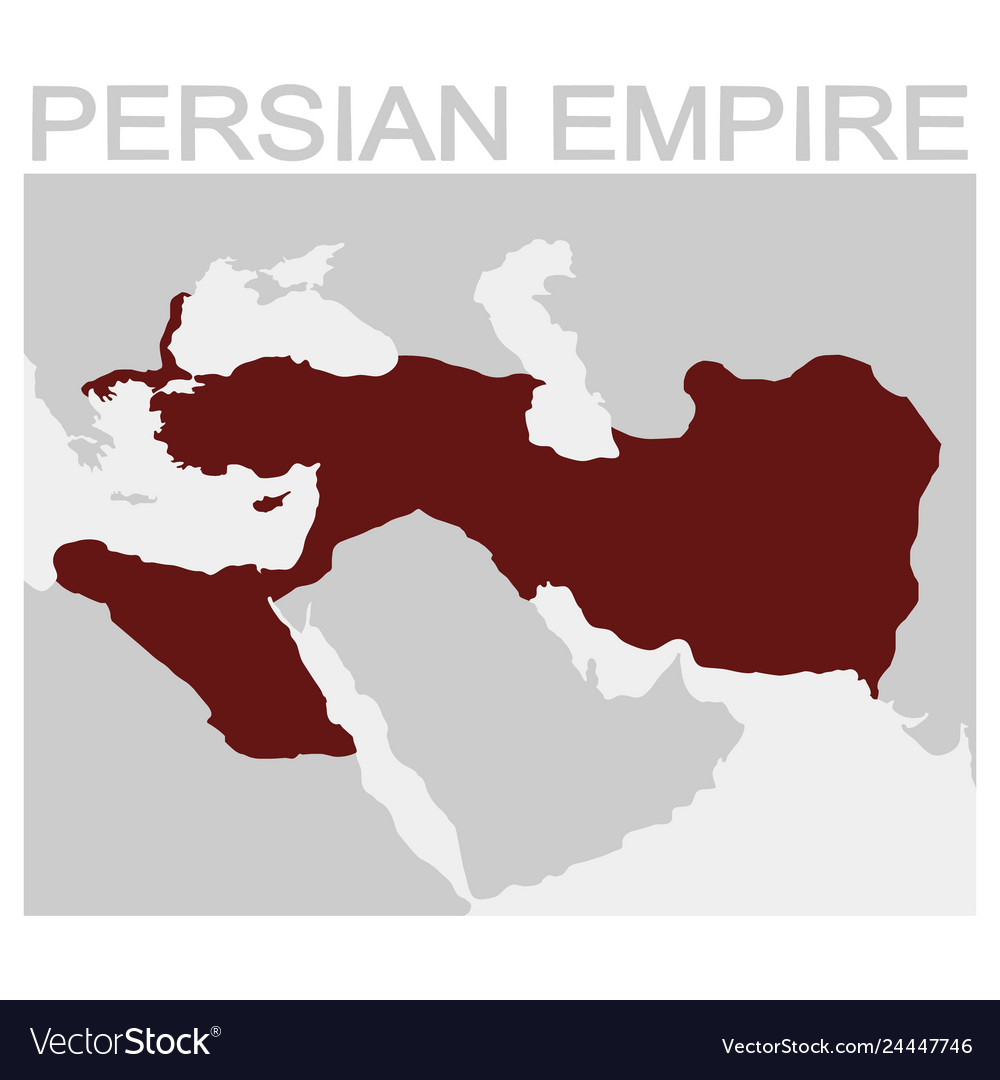 Map Of The Persian Empire Royalty Free Vector Image