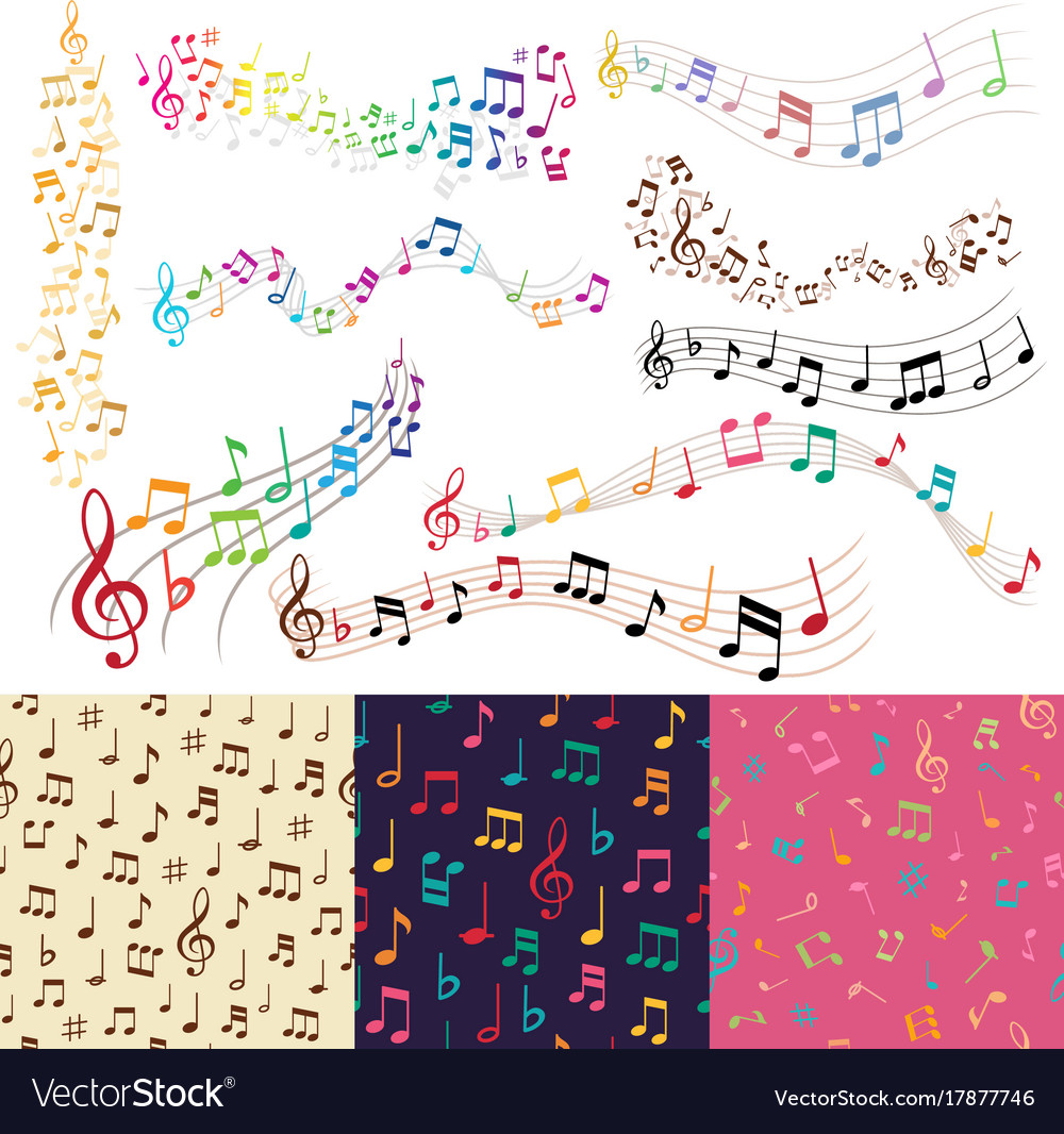 Music notes music melody background