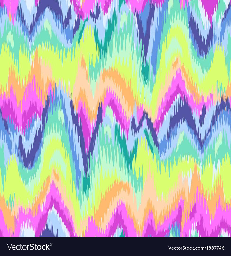 Rainbow chevron ikat pattern vector image
