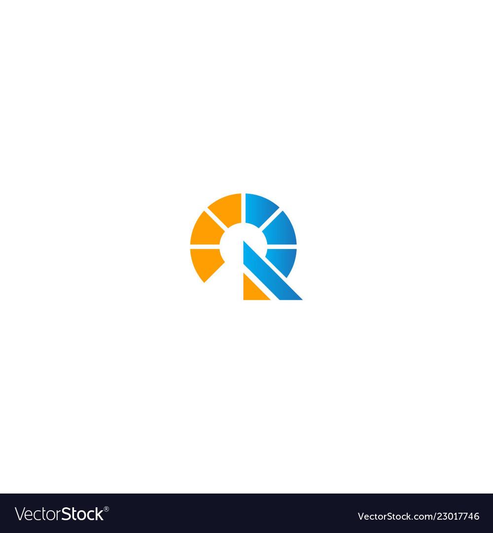 Round initial technology company logo