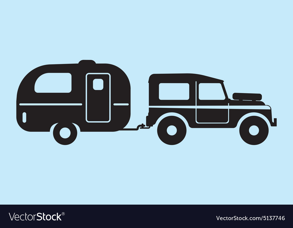 Silhouette camping car