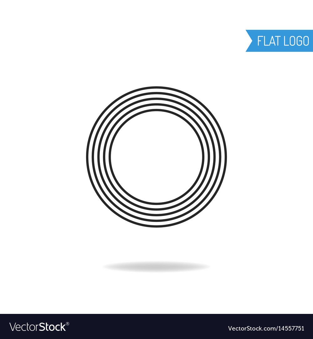 Abstract geometric logo object for brand isolated vector image