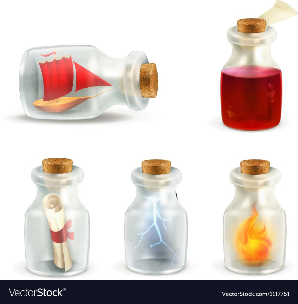 Set of jars vector image