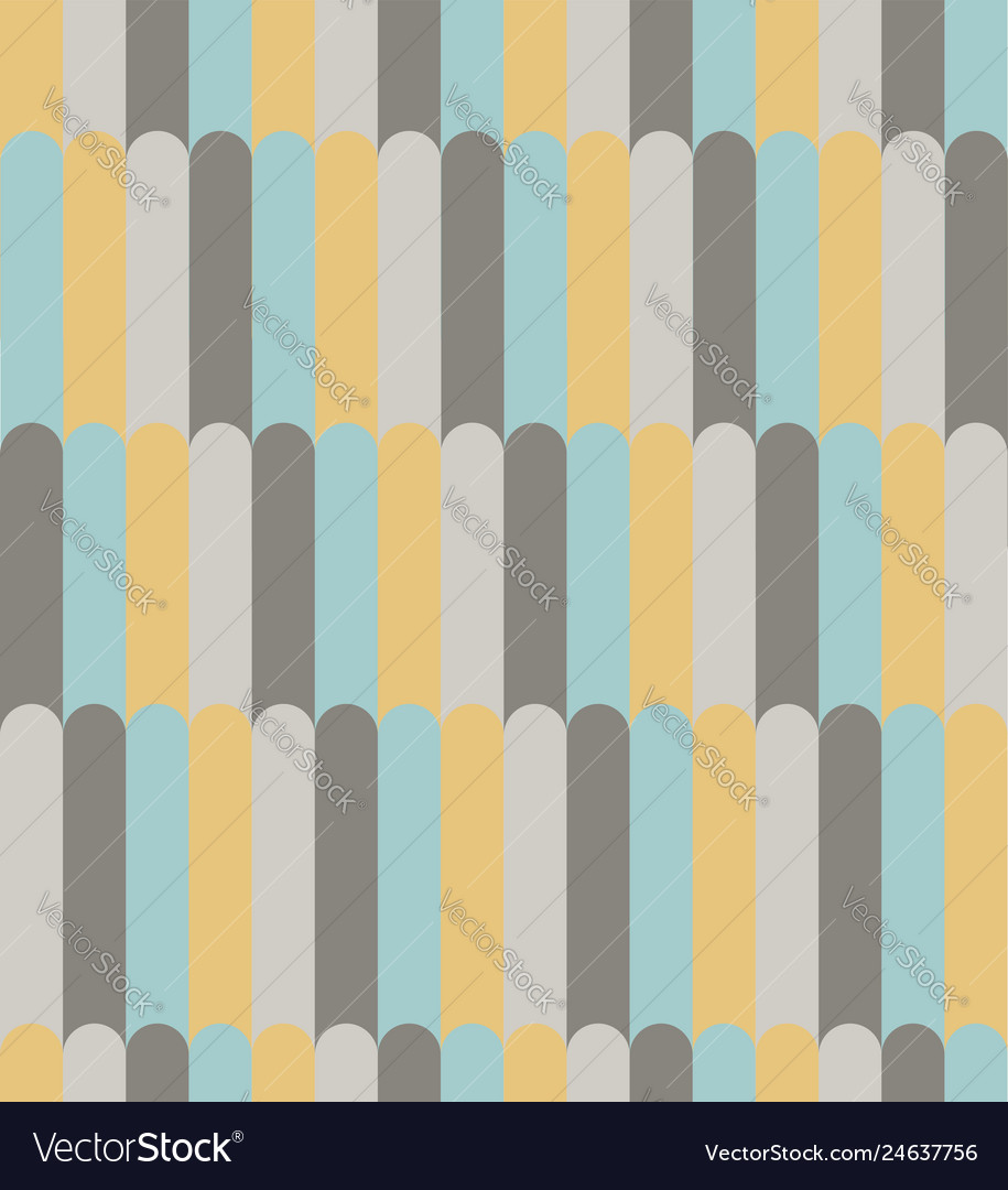 Abstract yellow aqua and gray line pattern