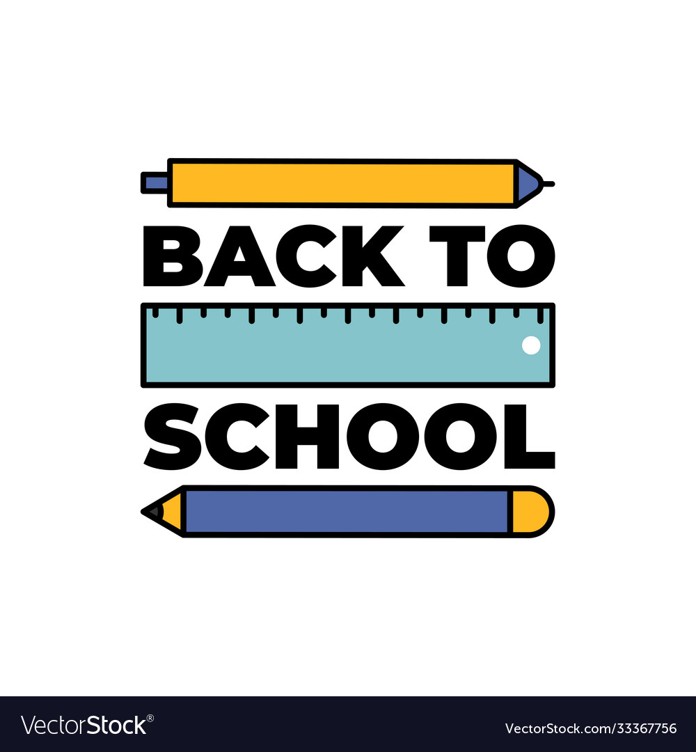 Back to school web banner colorful pencils eps10